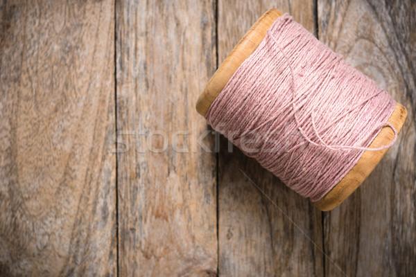 Roze garen kant hout Stockfoto © nuttakit