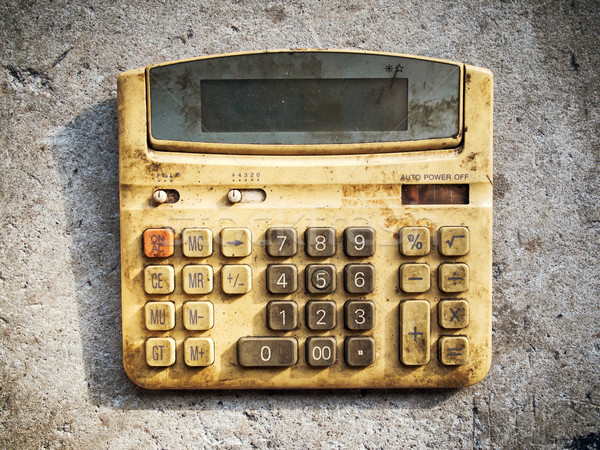 Dirty old calculator Stock photo © nuttakit