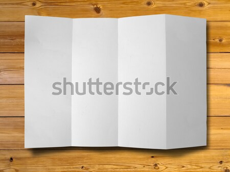 Crumpled paper on wood Stock photo © nuttakit