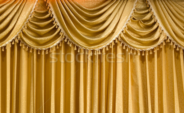 Light Gold fabric Curtain Stock photo © nuttakit