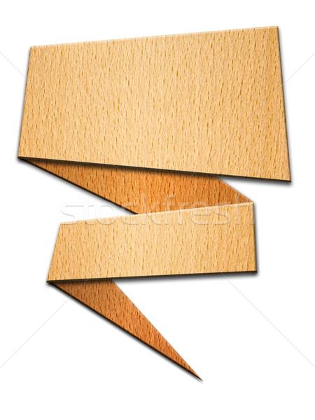 Perspectief hout witte teken bouw onderwijs Stockfoto © nuttakit