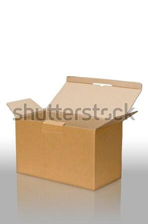 Abrir papel pardo caixa piso negócio papel Foto stock © nuttakit