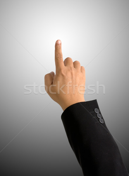 index finger pointing on round Gradient background Stock photo © nuttakit
