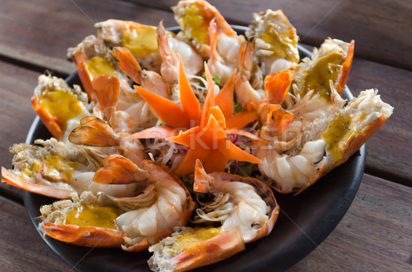 Shrimp cooked half burned Stock photo © nuttakit