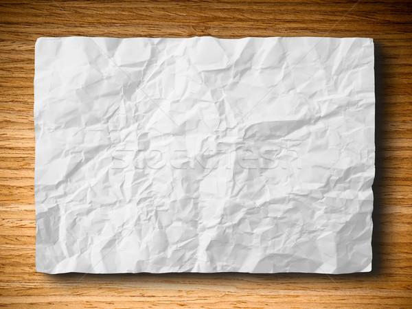 Witte papier eiken hout horizontaal abstract Stockfoto © nuttakit