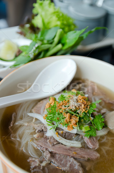 Top of Pho Lao style noodle soup Stock photo © nuttakit