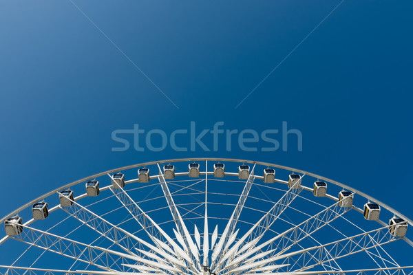 Cycle blanche grande roue ciel bleu Photo stock © nuttakit