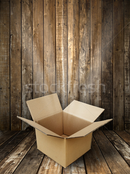 Brown paper box open Stock photo © nuttakit