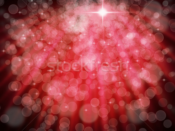 Abstract of Red Aura White bokeh Stock photo © nuttakit