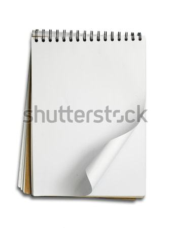 пустая страница эскиз книга горизонтальный белый тень Сток-фото © nuttakit