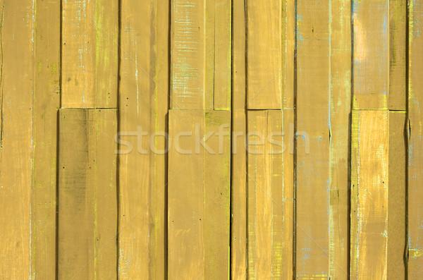 Jaune couleur peinture planche mur texture Photo stock © nuttakit