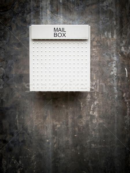 Beyaz posta kutusu duvar grunge eski şehir Stok fotoğraf © nuttakit