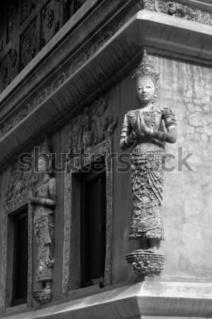 Thai art stuc anges blanc noir visage Photo stock © nuttakit