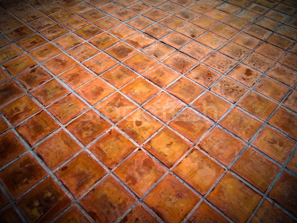 Square red tiles floor Stock photo © nuttakit