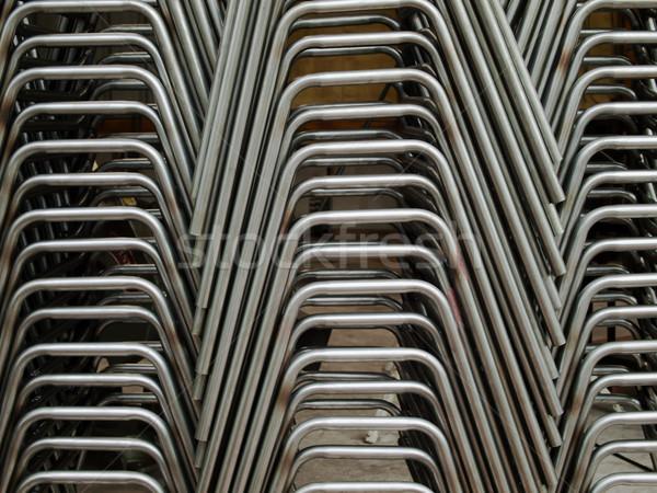 Oldal cső görbület fém művészet ipari Stock fotó © nuttakit
