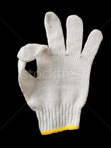 белый перчатка пряжи отображения сигнала вызывать Сток-фото © nuttakit