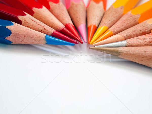 Hot tone color pencil Stock photo © nuttakit
