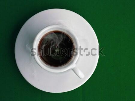 Beker hot koffie witte koffie groene Stockfoto © nuttakit