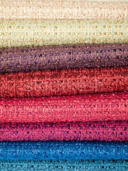 Colorato cotone molti texture abstract sedia Foto d'archivio © nuttakit