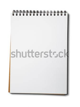 Blank white paper notebook Stock photo © nuttakit