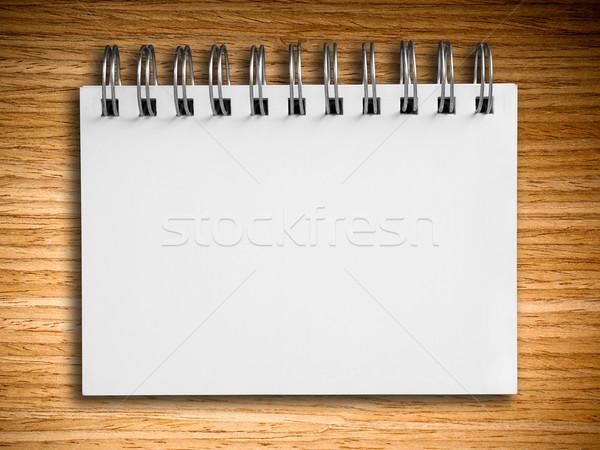 白 ノートブック オーク 木材 水平な ビジネス ストックフォト © nuttakit