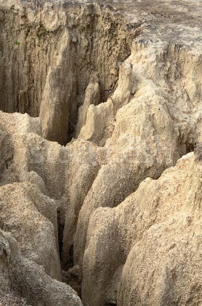 地上 急 崖 山 岩 石 ストックフォト © nuttakit
