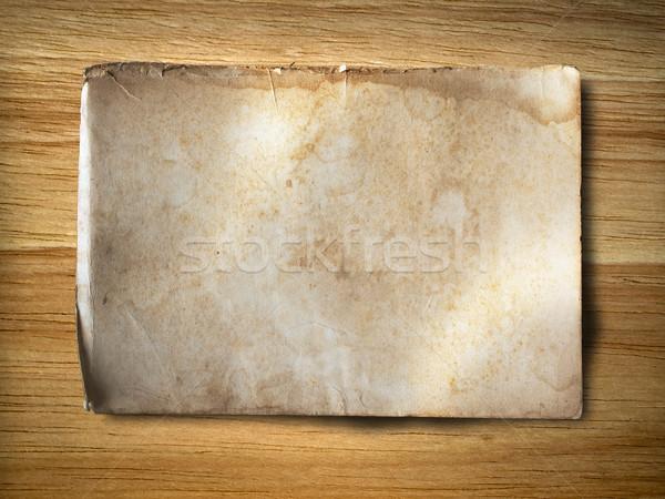 Oude grunge papier hout rubber achtergrond Stockfoto © nuttakit