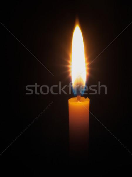 Yellow candle  bright light Stock photo © nuttakit