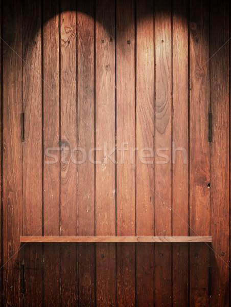 Hout plank muur top licht lege Stockfoto © nuttakit