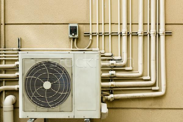 Légkondicionálás egység ül kívül cső vonal Stock fotó © nuttakit
