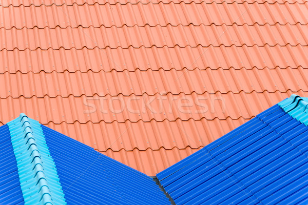 Red and Blue Steel Sheet Roof Stock photo © nuttakit