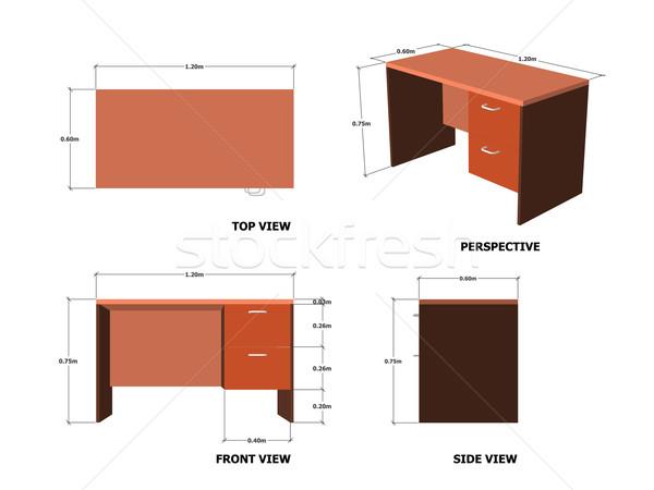 Four Office Table Set Design Stock photo © nuttakit