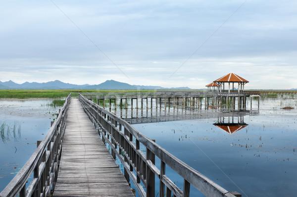 Tó reggel park roi Thaiföld égbolt Stock fotó © nuttakit