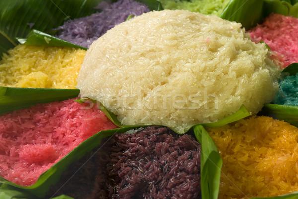 Zoete rijst zeven kleur groene Stockfoto © nuttakit