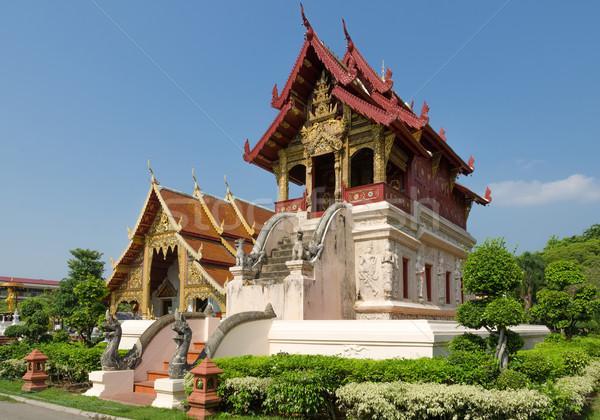 Piccolo scrittura porta architettura asian Foto d'archivio © nuttakit