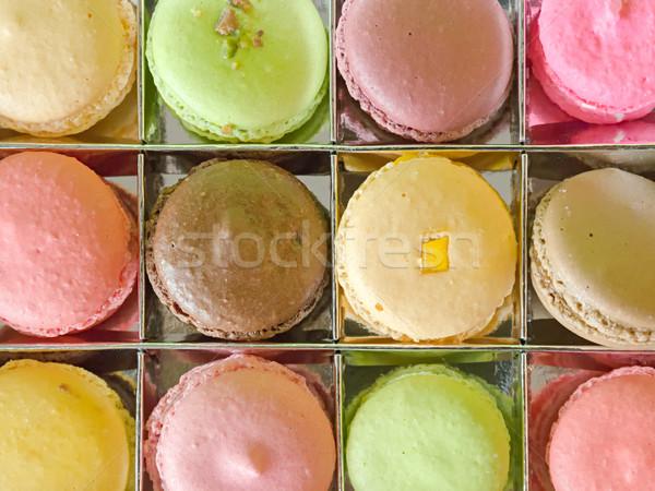 Top macaron vak heldere kleur Stockfoto © nuttakit