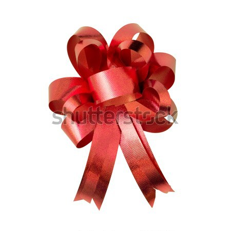 Red ribbon for gift on white background Stock photo © nuttakit