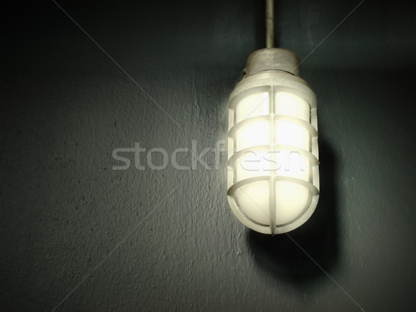 steel gray lamp on the wall Stock photo © nuttakit