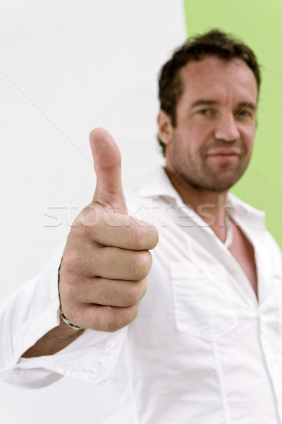 Thumb Up is good Stock photo © nuttakit