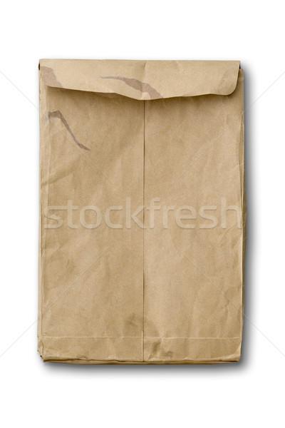 De volta velho papel pardo branco sombra caminho Foto stock © nuttakit