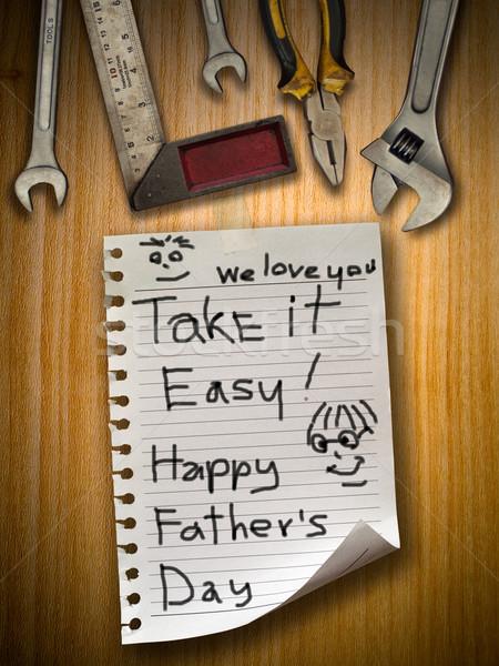 Apa nap küld absztrakt terv fehér Stock fotó © nuttakit