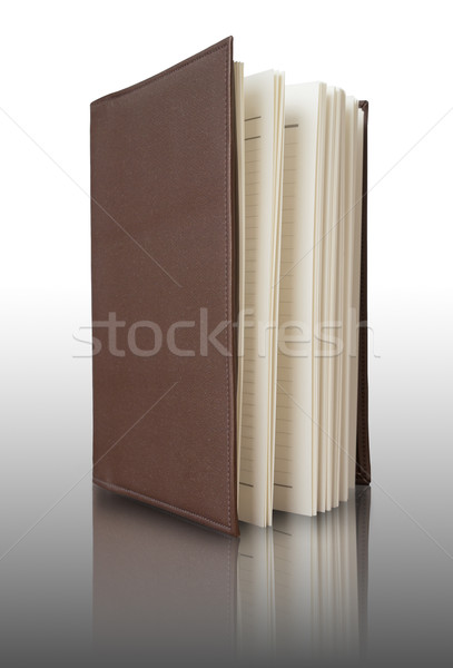 Brown cover Notebook vertically Stock photo © nuttakit