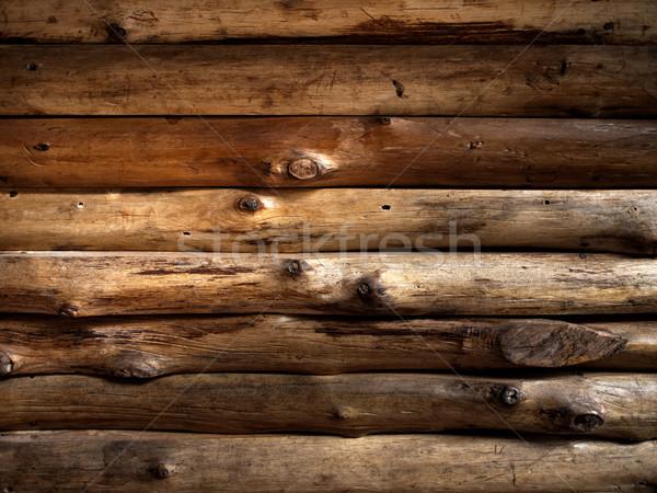 Doku eski kereste ahşap duvar web Stok fotoğraf © nuttakit