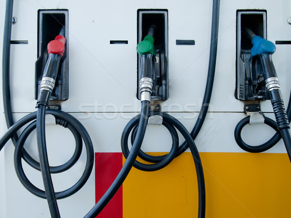 Three Gas Pump Nozzles Stock photo © nuttakit