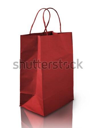 Rood zak papier leven witte studio Stockfoto © nuttakit