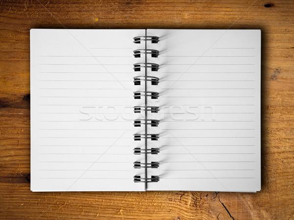 Open twee witte nota boek horizontaal Stockfoto © nuttakit