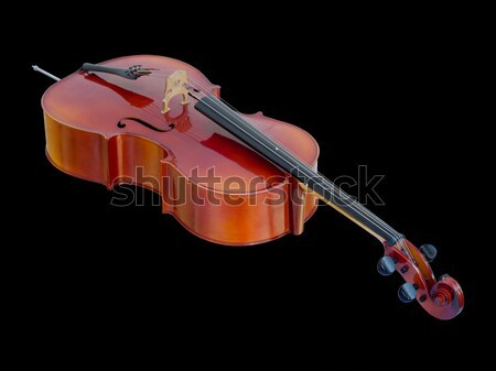 Cello on Black Background isolated Stock photo © nuttakit