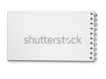 Long blank white note book horizontal Stock photo © nuttakit
