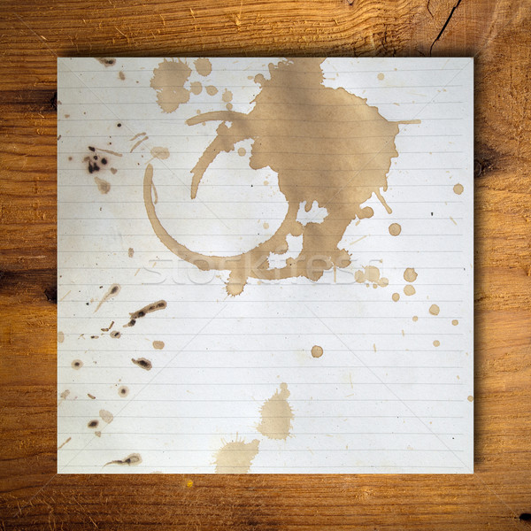 Coffee stains on blank white paper Stock photo © nuttakit