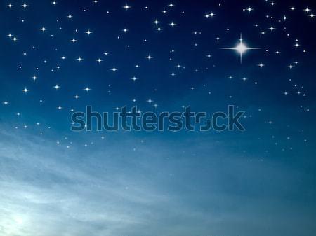 Csillagos éjszaka sok fényes csillag kék ég Stock fotó © nuttakit